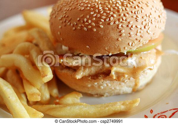 hamburger, pollo - csp2749991