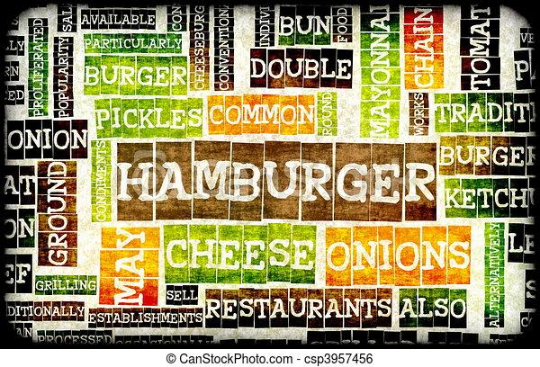 hamburger - csp3957456