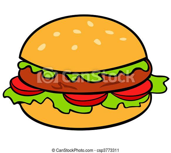 hamburger. - csp3773311