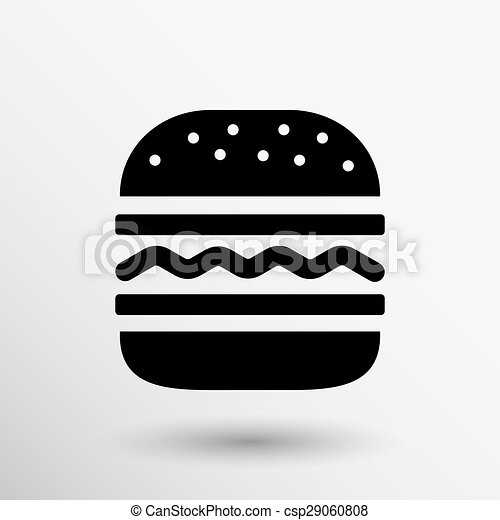 hamburger web icon burger vector bun logo hamburger web
