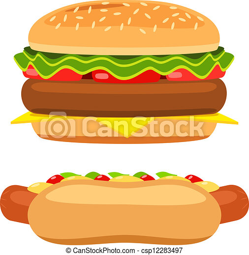 Hamburguesa Blanco Vector Plano De Fondo Hot Dog Fondo Blanco