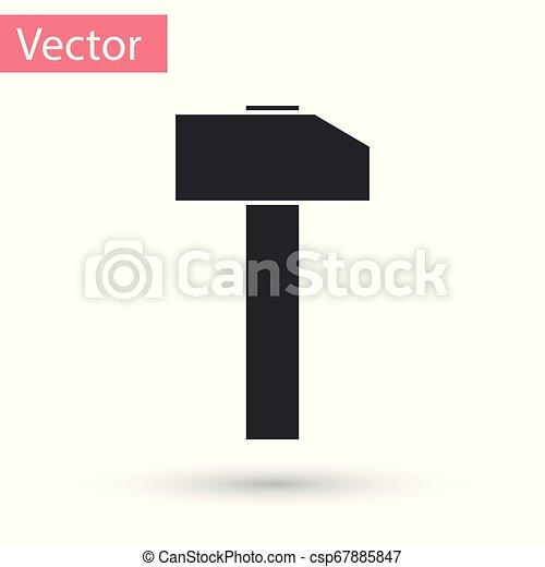 hammare, verktyg, isolerat, illustration, grå, bakgrund., vektor, vit, repair., ikon - csp67885847