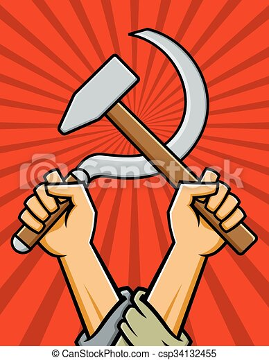 Hammer and Sickle Vector Design - csp34132455