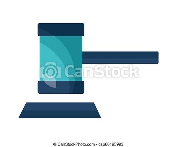 hammer court justice - csp66195993