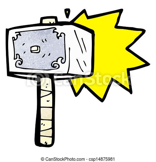 Hammer Karikatur Thor