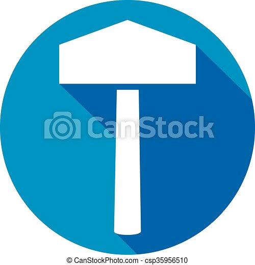 Hammer Of Thor Flat Icon Thors Hammer Symbol Vector Clip Art