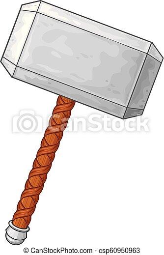 Hammer of Thor vector illustration - csp60950963