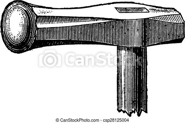 Hammer stamping, vintage engraving. - csp28125004