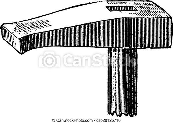 Hammer swaging, vintage engraving. - csp28125716