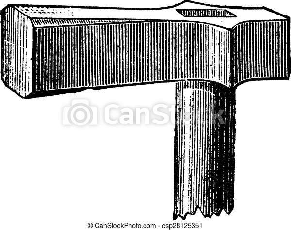 Hammer to hover, vintage engraving. - csp28125351