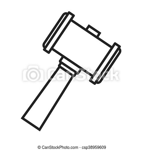 Hammer Wood Gavel Icon