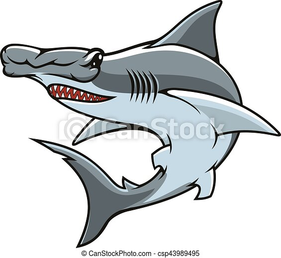 hammerhead shark isolated vector mascot icon hammerhead eps rh canstockphoto ca hammerhead shark clipart black and white