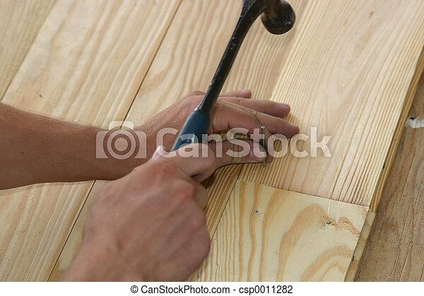 Hammering Nail - csp0011282