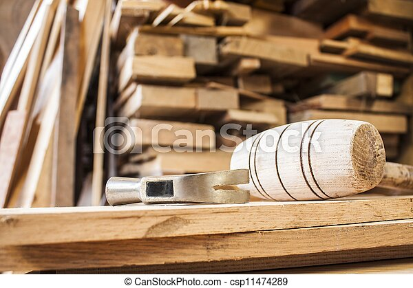hammers on carpentry - csp11474289