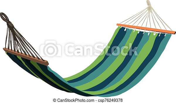 hammock isolated realistic vector illustration - csp76249378