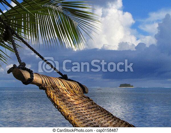 Hammock on beach - csp0158487