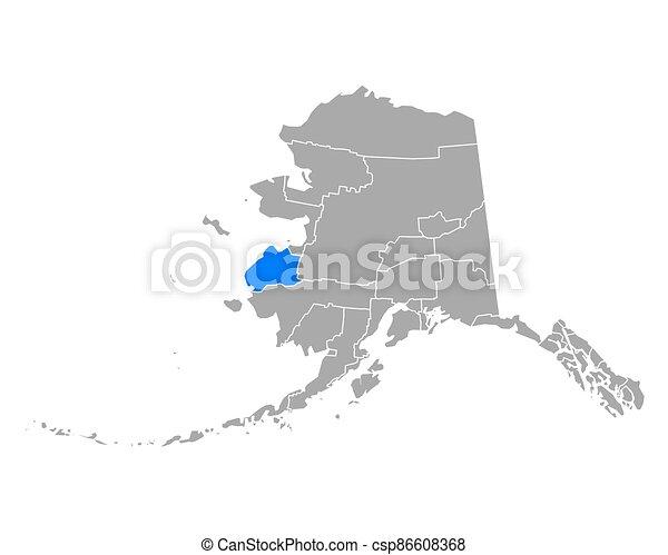 hampton, alaska, vadear, mapa - csp86608368