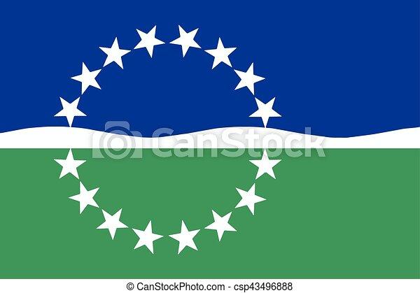 Bandera de Hampton Roads, Virginia, USA. Formador de vectores - csp43496888