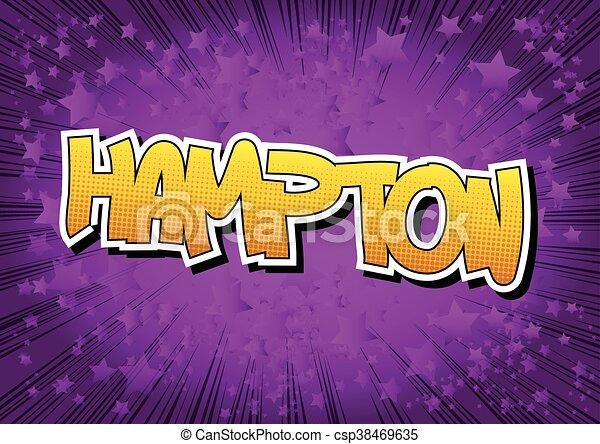 La palabra de Hampton, estilo cómic. - csp38469635