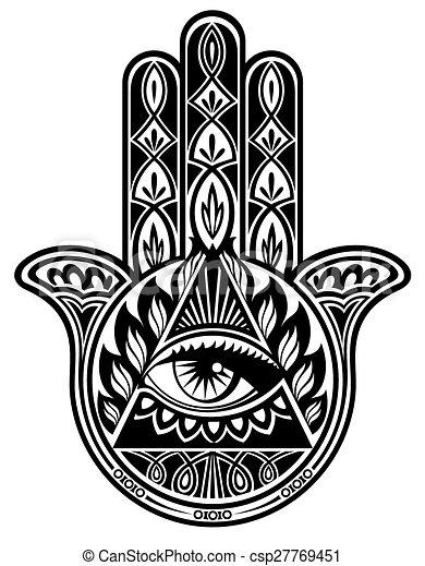 Hamsa Hand Vector Decorative Hand With Eye