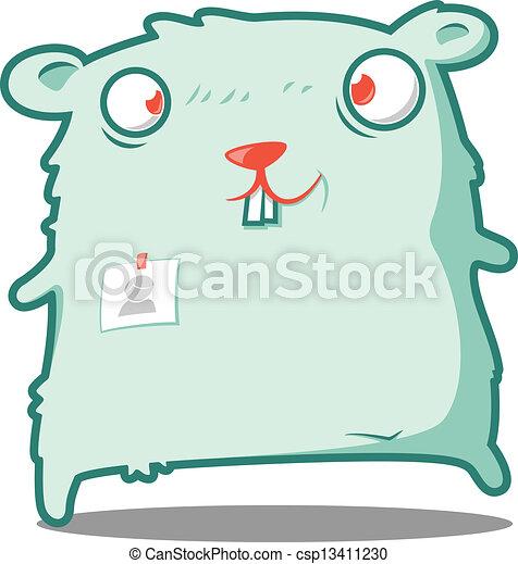 Hamster the clerk - csp13411230