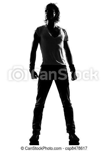 hanche, debout, danse, danseur, houblon, frousse, homme - csp8478617