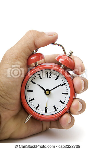 Hand and Red Alarm Clock - csp2322709