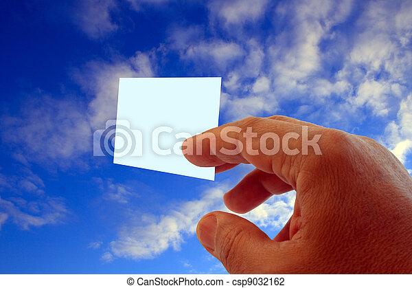 hand and visit card - csp9032162