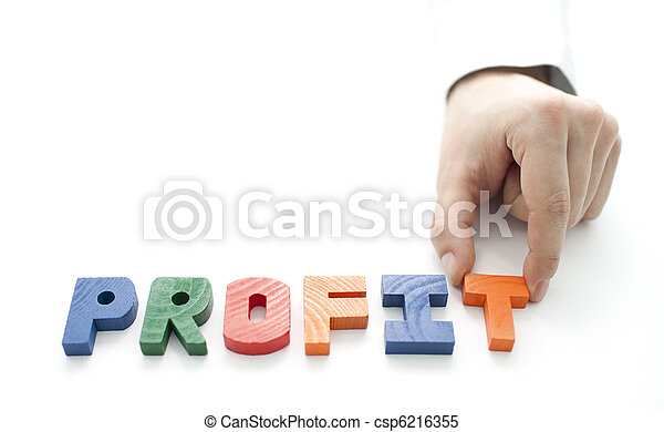 Hand and word Profit - csp6216355