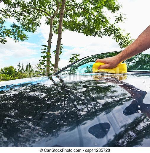 hand car wash - csp11235728