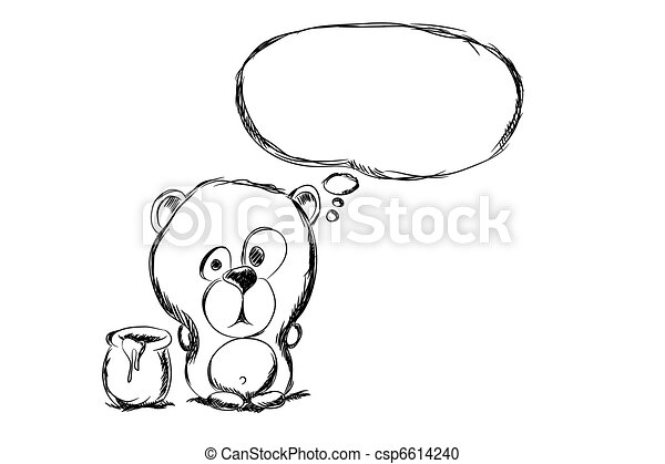 hand draw bear - csp6614240