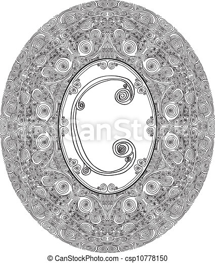 Hand draw font. Letter C. Vector illustration - csp10778150
