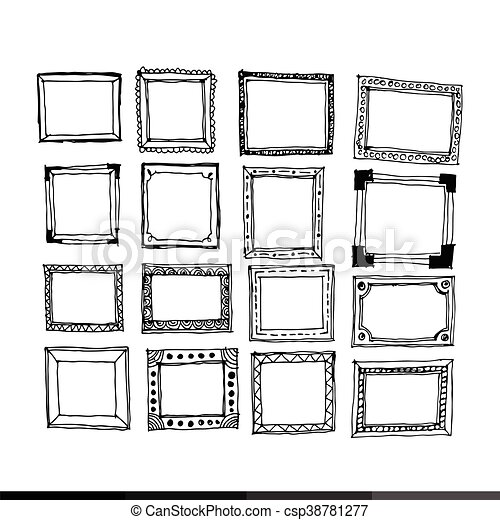 Hand Draw Frame Icon Illustration Design