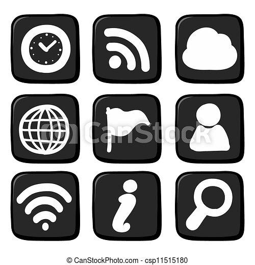 Hand draw icon set. Illustration - csp11515180