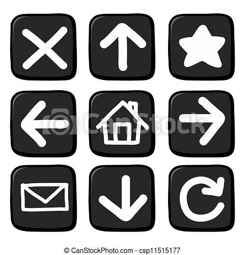 Hand draw icon set. Illustration - csp11515177