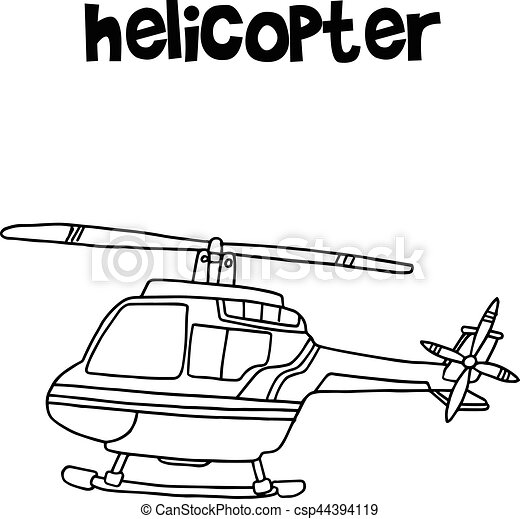 Hand draw of helicopter transport