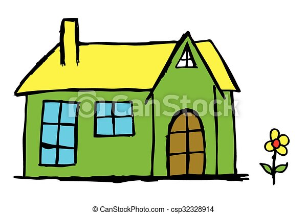 hand draw sketch of House - csp32328914