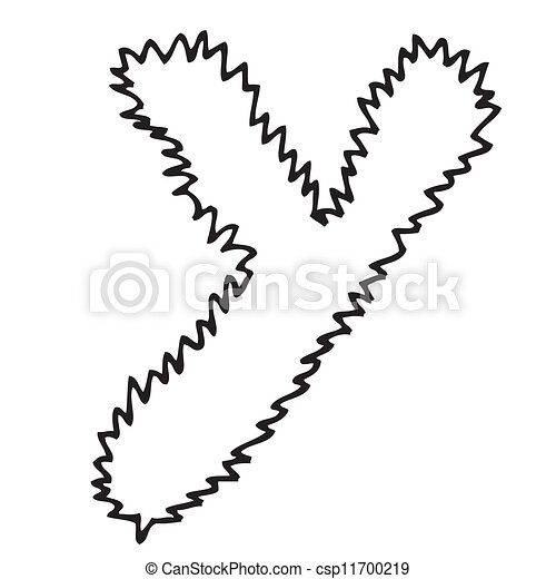 Hand Drawing Alphabet Letter Y In Vector Design