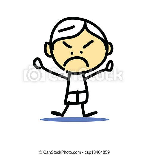 hand drawing cartoon emotion - csp13404859