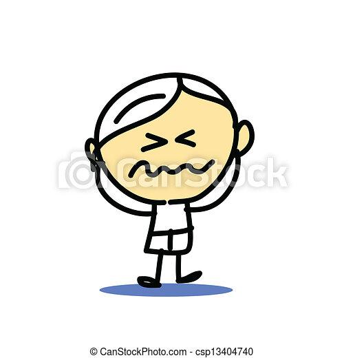 hand drawing cartoon emotion - csp13404740