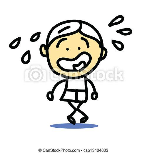 hand drawing cartoon emotion - csp13404803