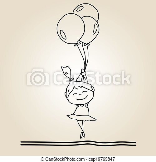 Hand Drawing Cartoon Happiness Hand Drawing Cartoon Happy Kids