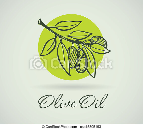 Hand-Drawing Olive - csp15805193