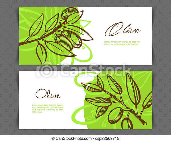 Hand-Drawing Olive - csp22569715