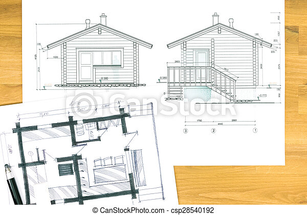 Hand drawing with blueprint architectural sketch drawings and hand drawing with blueprint csp28540192 malvernweather Images