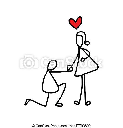 hand-drawn, 愛, 漫画 - csp17793802