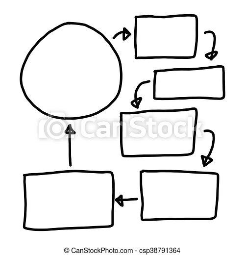 Hand drawn a graphics symbols geometric shapes graph - csp38791364
