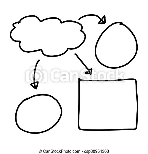 Hand drawn a graphics symbols geometric shapes graph to input information - csp38954363