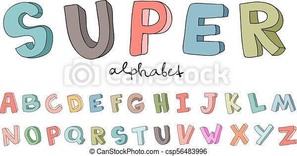 Hand drawn alphabet font letters doodle abc for kids eps hand drawn alphabet font letters doodle abc for kids vector illustration isolated on white thecheapjerseys Images