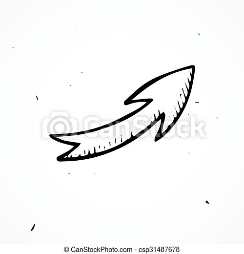 hand drawn arrow isolated vector doodle element